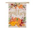 Autumn Gather Burlap Banner