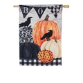 Pumpkins and Crows Linen Banner