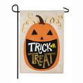 Trick or Treat Pumpkin Burlap Garden Flag