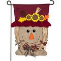 Mrs. Scarecrow Burlap Garden Flag