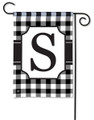 "Monogram ""S"" Black & White Garden Flag"