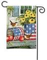 Patriotic Planters Garden Flag