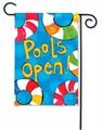 Pool's Open Garden Flag