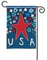 Patriotic Star Garden Flag