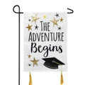 Graduation Adventure Garden Flag