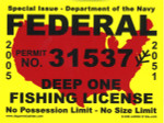 Deep One Fishing License (STICKER)