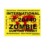 Zombie Hunting Permit (STICKER)