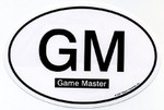 Game Master Euro Oval car decal