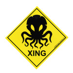 Cthulhu Crossing sign (STICKER)