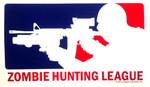 Zombie Hunting League (sticker)
