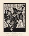 Cthulandia woodcut print