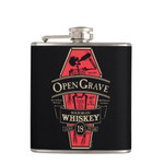 Open Grave Whiskey Flask