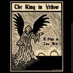 The King In Yellow woodcut print shirt