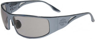 OutLaw Eyewear Fugitive Motorcycle Aluminum Sunglass, Polished GunMetal frame with Extra Dark Transition Day-Night lenses