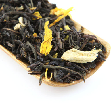 Our Ginger Black tea blend is a wonderful mix of black tea and strong ginger root.