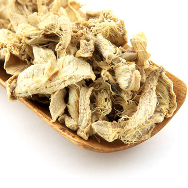 100% pure dried pieces of ginger root.
