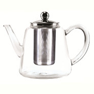 Copy of Glass Tea Pot with Stainless Steel Infuser, 800ML, Tall