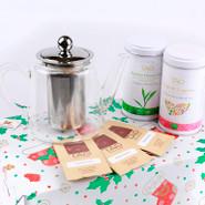 Glass Tea Pot Gift Set 0.8L