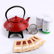 Cast Iron Tea Pot Gift Set 1.15L
