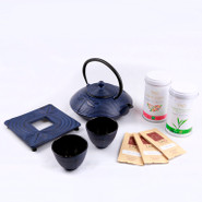 Cast Iron Tea Pot and Cup Gift Set 0.8L