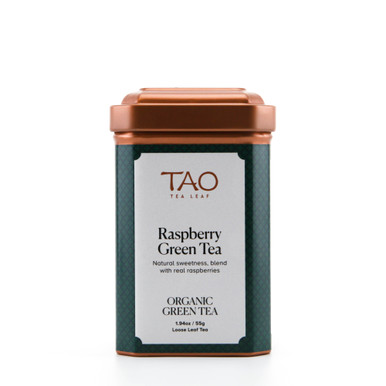 Smooth, steamed green tea blended with tart hibiscus and succulent raspberries.