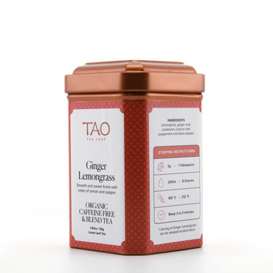 Spicy ginger, soothing licorice and zesty lemongrass are blended to compose one of our tastiest and most innovative caffeine-free infusions.