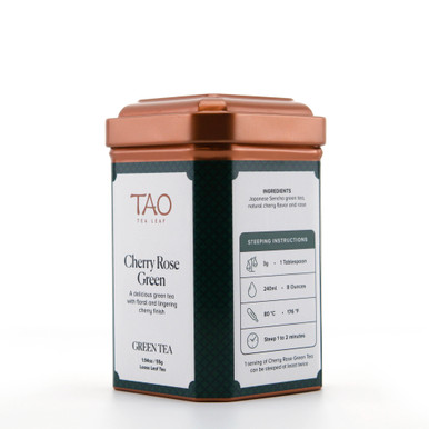 Cherry Rose Green tea is a sensual blend of Japanese Sencha, rose petals combined with the flavour of cherries.