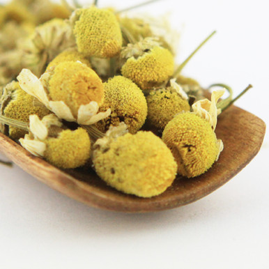 The chamomile is very aromatic with a fruity tending floral flavor.