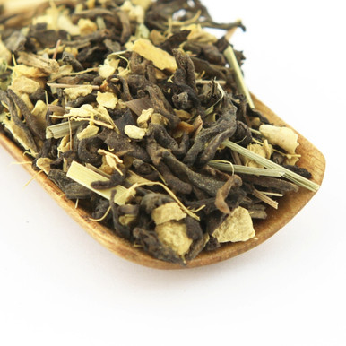 Studies have shown both pu'er and ginger to be good for the digestives system, making this tea a perfect after dinner treat.