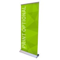 "33"" Retractable Roll Up Banner Stand - Premium"