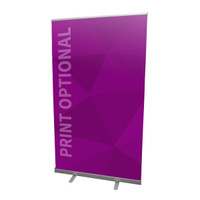 "47"" Retractable Roll Up Banner Stand"