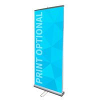 "33"" Double Sided Retractable Roll Up Banner Stand"