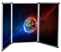 3-Panel Folding Presentation Display Board For Trade Show Table Top