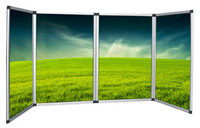 4-Panel Folding Presentation Display Board For Trade Show Table Top