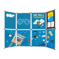 8-Panel Folding Velcro Presentation Display Board For Trade Show Table Top