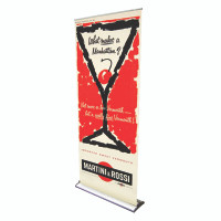 "36"" Retractable Roll Up Pro Line Banner Stand with Print"