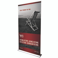 "48"" Retractable Roll Up Pro Line Banner Stand with Print"