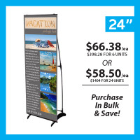 "24"" H Banner Stand with Print"