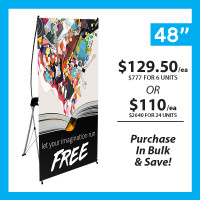 "48"" X Banner Stand with Print"