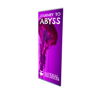 "33"" L Banner Stand with Print"