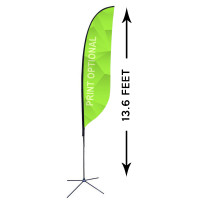 13ft. Custom Feather Advertising Flag Kit