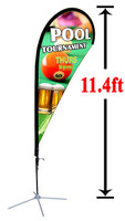 11' Custom Teardrop Advertising Flag Kit