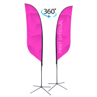 10ft. Double Sided Custom Feather Advertising Flag Kit