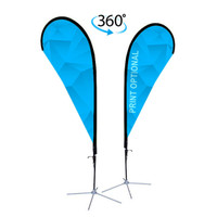 8ft. Double Sided Custom Teardrop Advertising Flag Kit