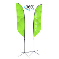 13ft. Double Sided Custom Feather Advertising Flag Kit