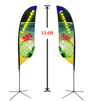 13' Double Sided Custom Feather Advertising Flag Kit