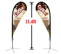 11' Double Sided Custom Teardrop Advertising Flag Kit