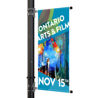 "18"" Street Light Pole Banner"