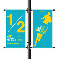 "18"" Street Light Pole Banner Double Bracket Set"