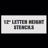 "Custom Message Stencils - 12"" Letters"